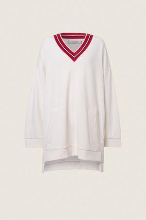Dorothee Schumacher WILD CHILD sweatshirt v-neck 1/1 0 beige