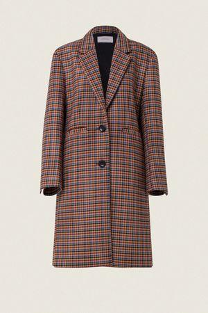 Dorothee Schumacher CHECKED SCUBA coat outdoor 1/1 sleeve 0 beige