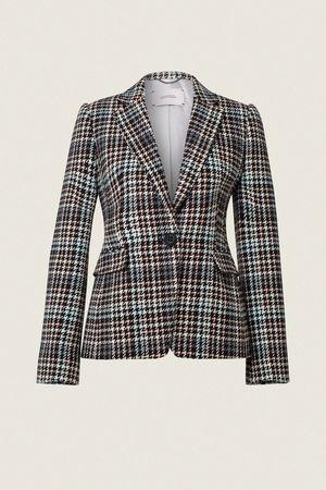 Dorothee Schumacher CHARISMATIC CHECK jacket 1/1 sleeve 1 beige