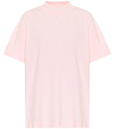 1017 ALYX 9SM Bedrucktes T-Shirt aus Baumwolle beige