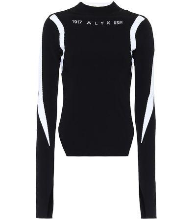 1017 ALYX 9SM Pullover Warp Speed mit Intarsie schwarz