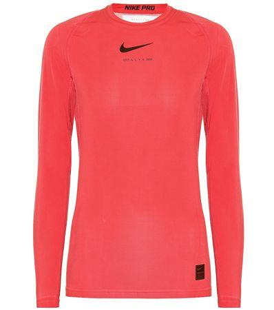 1017 ALYX 9SM X Nike Top aus Jersey rot