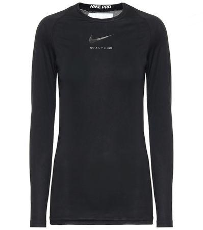 1017 ALYX 9SM X Nike Top aus Jersey schwarz