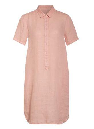 120% Lino 120%Lino Leinenkleid rosa orange