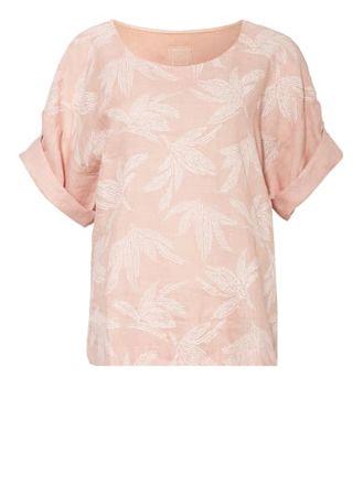 120% Lino 120%Lino T-Shirt Aus Leinen rosa