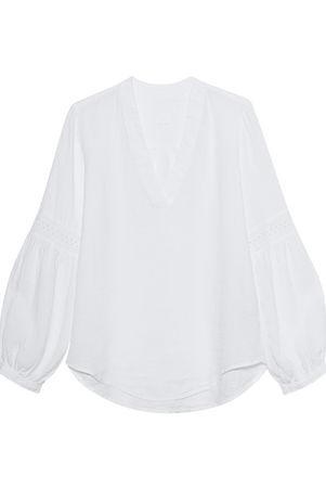 120% Lino  Tunic Lace White Damen Weiß grau