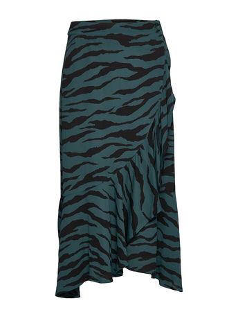 2nd Day 2nd Francine Zebra Knielanges Kleid Grün 2NDDAY grau