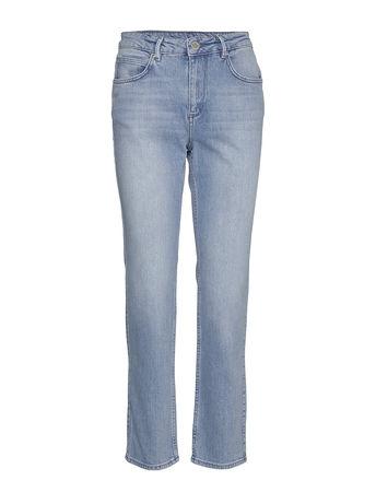 2nd Day 2nd Riggis Slit Thinktwice Straight Jeans Hose Mit Geradem Bein Blau 2NDDAY grau