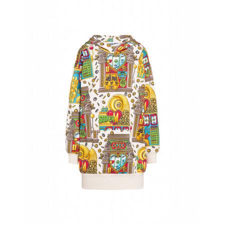 MOSCHINO  Fleece-kleid Slot Machine Damen Gr. 38/32 Bunt braun