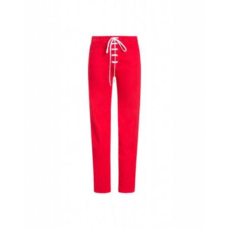 Love Moschino  Hose Aus Gefärbtem Stretch-satin Damen Gr. 25/32 Rot pink