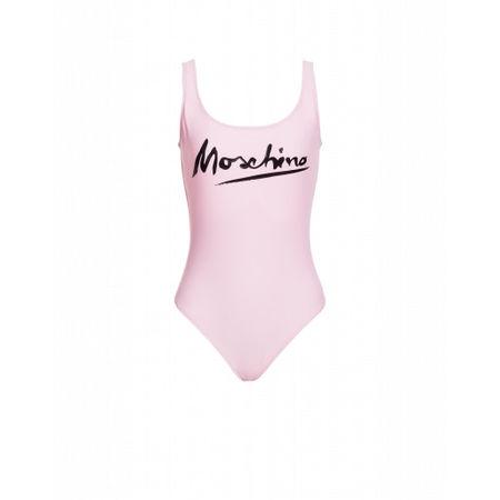 MOSCHINO  Einteiliger Badeanzug Mit Logo Signature Damen Gr. 40/34 Pink lila