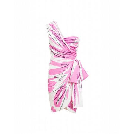 MOSCHINO  Georgette-kleid Brushstroke Damen Gr. 40/34 Weiß rosa