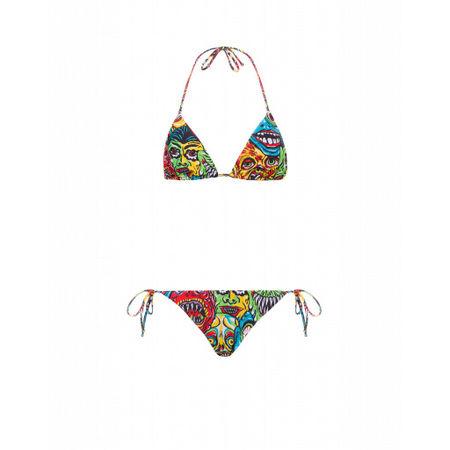 MOSCHINO  Lycra-bikini Monster Damen Gr. 42/36 Bunt weiss