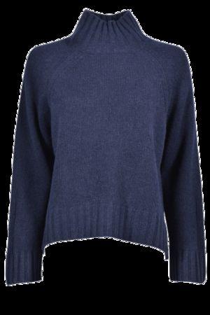 360 Sweater  Lässiger Cashmere-Stehkragen, Marine Damen