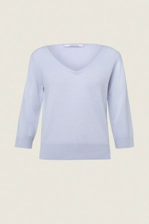 Dorothee Schumacher SOFT REVOLUTION pullover v-neck 3/4 1 beige