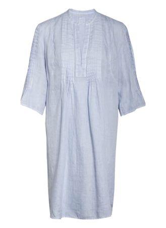 120% Lino 120%Lino Leinenkleid Mit 3/4-Arm blau grau