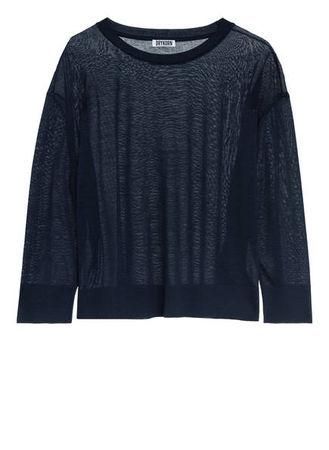Drykorn  Pullover Gima Mit 3/4-Arm blau grau
