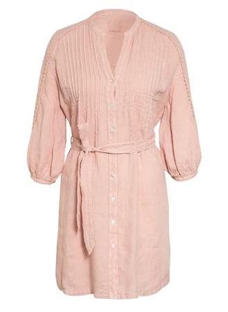120% Lino 120%Lino Leinenkleid Mit 3/4-Arm rosa orange