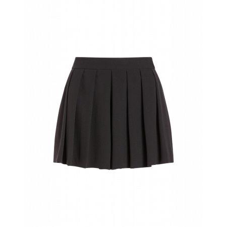 MOSCHINO Boutique  Cady-shorts Mit Falten Damen Gr. 46/42 Schwarz grau