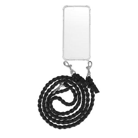 Fashionette  Handyhüllen - Smartphone iPhone 6 Plus/6S Plus Necklace Braided - in schwarz - für Damen weiss