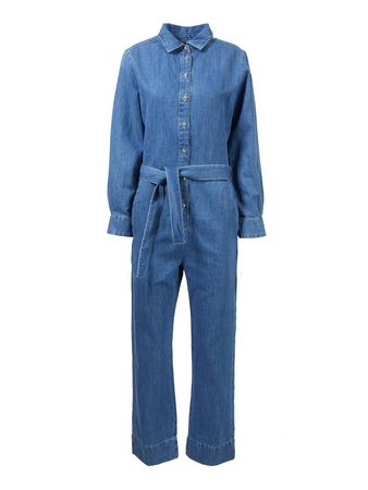 7 For All Mankind  - Denim-Jumpsuit 'Honour' Mittelblau blau