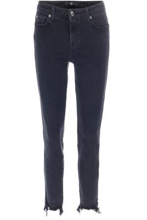 7 For All Mankind  High Waist Skinny Jeans Pyper Crop Schwarz Damen Farbe: schwarz verfügbare Größe: 25|26|27|28|29 grau