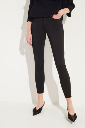 7 For All Mankind  - Jeans 'The Skinny Crop' Schwarz