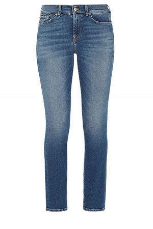 "7 For All Mankind SEVEN for all mankind Jeans ""Roxanne crop"", Indigo Damen grau"