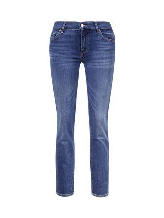 7 For All Mankind  - Skinny Jeans 'Roxanne' Mittelblau blau