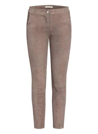 lilienfels  7/8-Lederhose grau braun