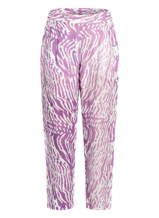120% Lino 120%Lino 7/8-Leinenhose violett lila