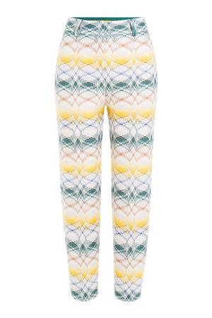 Missoni  7/8-Pants mit Zickzack-Muster grau