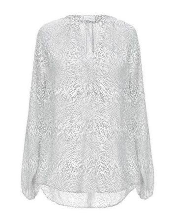 A.L.C.  Damen Weiß Bluse Seide grau