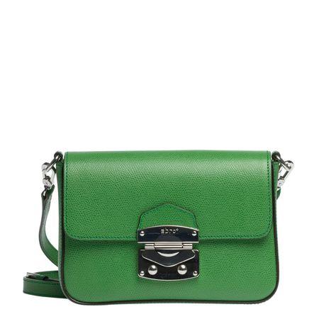 abro ® - Handtasche aus Leder in Grün für Damen, Größe UNI gruen