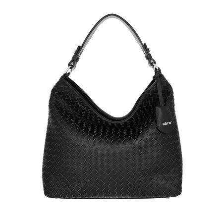 abro  Hobo Bag  -  Beutel Elvi Small Black Nickel  - in schwarz  -  Hobo Bag für Damen schwarz