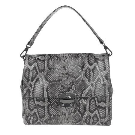 abro  Satchel Bag  -  Python Shoulder Bag Grey  - in grau  -  Satchel Bag für Damen grau