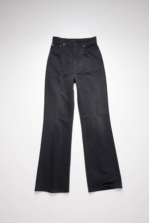 Acne Studios   1990 Washed Out Black Rigid HW21 Ausgewaschenes Schwarz  Boot-Cut-Jeans