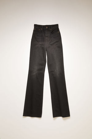 Acne Studios   1990 Washed Out Black Rigid Washed Black Bootcut fit jeans braun