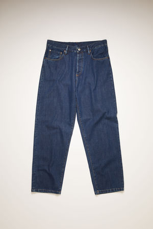Acne Studios   1991 Toj Dark Blue T Dark Blue Loose fit jeans braun