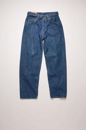 Acne Studios   1991 Toj Dark Blue Trash Dunkelblau  Jeans mit lockerer Passform braun