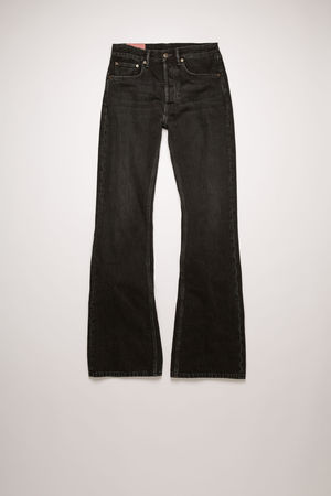 Acne Studios   1992F Vintage Black Schwarz  Boot-Cut-Jeans in lockerer Passform grau