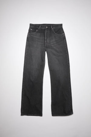 Acne Studios   2021M Vintage Black Schwarz Boot-Cut-Jeans in lockerer Passform
