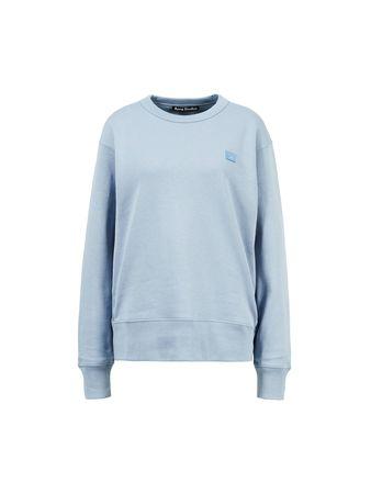 Acne Studios  - Baumwoll-Sweatshirt 'Fairview Face' Blau grau