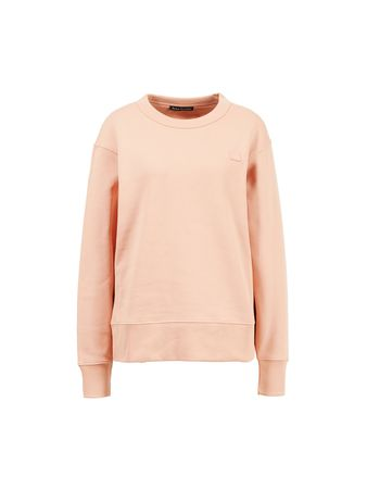 Acne Studios  - Baumwoll-Sweatshirt 'Fairview Face' Rosa orange