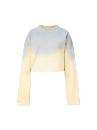 Acne Studios  - Bedrucktes Sweatshirt 'Fabini Sprayed' Gelb beige