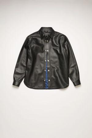 Acne Studios  BK-UX-LEAT000002 Schwarz Hemdjacke aus Leder grau