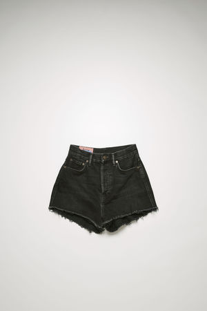 Acne Studios  BK-WN-SHOR000029 Schwarz  Denim-Shorts mit hohem Bund grau