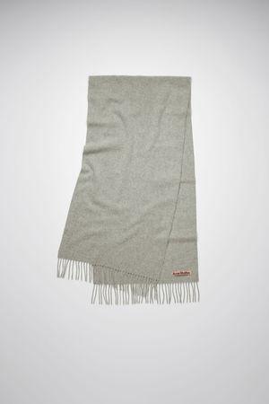 Acne Studios  Canada Nr New Light Grey Melange Narrow wool scarf grau