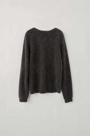 Acne Studios  Dramatic Moh Warmes Holzkohlengrau  Oversized Pullover braun
