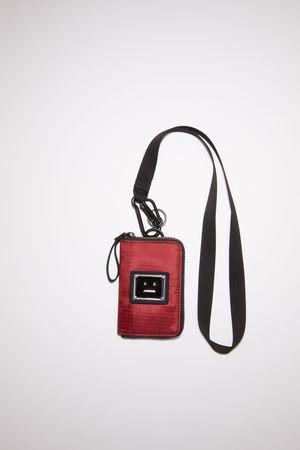 Acne Studios  FA-UX-ACCS000035 Burgundy  Logo lanyard wallet